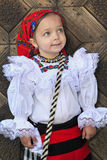 Small girl wearing Romanian traditional clothes Royalty Free Stock Image