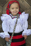 Small girl wearing Romanian traditional clothes Royalty Free Stock Photography