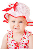 Small girl on white background Royalty Free Stock Image