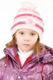 Small girl in winter coat Stock Photos
