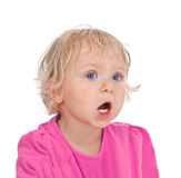 Small girl yelling Royalty Free Stock Image