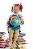 Small girls and books Stock Images