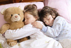 small girls sleeping Stock Image