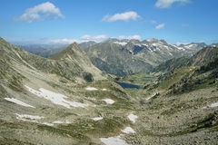 Small glacial lakes in Aiguestortes Royalty Free Stock Images