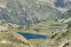 Small glacial lakes in Aiguestortes Royalty Free Stock Photography