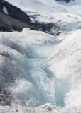 Small Glacial Melt Waterfall on Ice Stock Photo