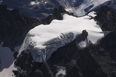 Glacier. Small Glacier in Central Switzerland royalty free stock images