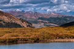 Small Glacier lake on top of Independence Pass Colorado stock photography