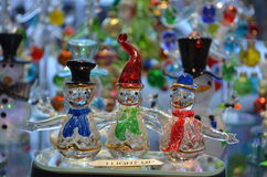 Small glass-blown figurines Royalty Free Stock Photos