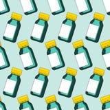 Small glass bottle pattern Royalty Free Stock Photo