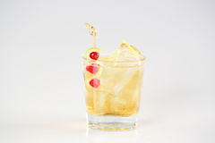 Small glass with cocktail. In studio Stock Image