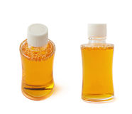 Small glass vial bottle isolated Royalty Free Stock Photography