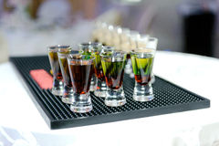 Green Alcohol Drinks Royalty Free Stock Photography