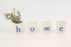 Small glasses paint letter home Stock Photos
