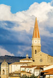 A small glimpse of the city of Arezzo. (Tuscany, Italy) with its famous cathedral of St Donato Stock Photo