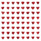 Small glitter love hearts seamless texture Royalty Free Stock Photography