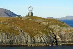 Small globe as landmark at polar circle Stock Image