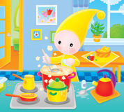 Small gnome - cook Stock Photography