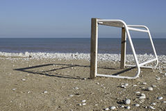 Small Goal. Small five-to-five football goal on a beach Royalty Free Stock Photography