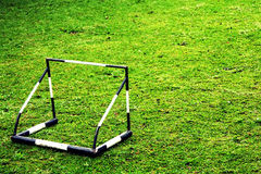 Small Goal. On the green grass Royalty Free Stock Images