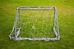Small goal with damage net Royalty Free Stock Photography