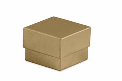 Small Gold Gift Box Stock Photography