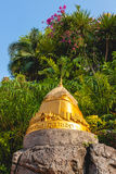 A small gold pagoda in a temple Stock Photo