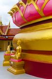Small golden Buddha statue in a temple. Small golden plated Buddha statue in a Buddhist temple in Koh Samui, Thailand royalty free stock images