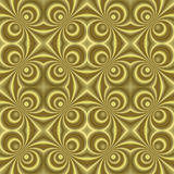 Small golden retro swirls sl Royalty Free Stock Images
