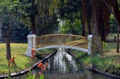 Small graceful bridge Stock Image