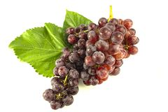 Red grape in white background stock photography