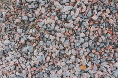 The small gravel stones texture background Stock Photography