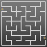 Small gray labyrinth Stock Images