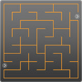 Small gray labyrinth Royalty Free Stock Image