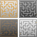 Small gray labyrinth Royalty Free Stock Photos