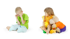 The small greedy person Royalty Free Stock Photos