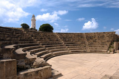 small greek amphitheater in paphos Royalty Free Stock Photos