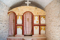 Small greek chapel . Royalty Free Stock Photography