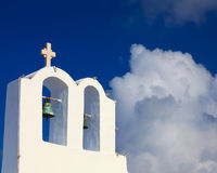 Small Greek Church Oia Santorini Royalty Free Stock Image