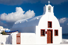 Small Greek Church Oia Santorini Stock Images