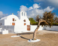 Small Greek Church Oia Santorini Stock Photos
