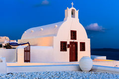 Small Greek Church Oia Santorini Royalty Free Stock Photos