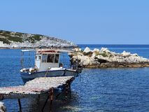 Small Greek Fishing Boat, Greek Island Stock Images