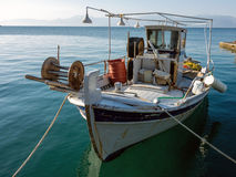 Small Greek Fishing Boat Stock Photography