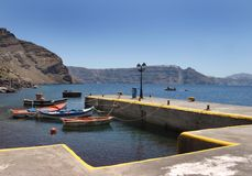 Small Greek fishing harbor Royalty Free Stock Image