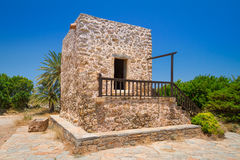 Greek house in the village of Lasithi Plateau Royalty Free Stock Photo