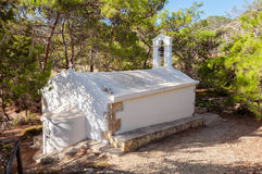 Small greek orthodox chapel on the trail on Gavdos, Greece Stock Image