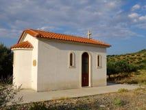 Small Greek Orthodox Church Stock Photo