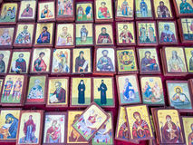 Small Greek Orthodox Icons Stock Photography