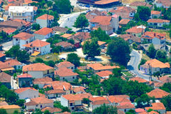 Small greek town Stock Image